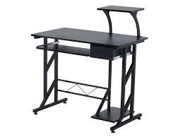 bureau informatique noir bureau informatique design bois acier 90 l x 50 i x 95h cm noir