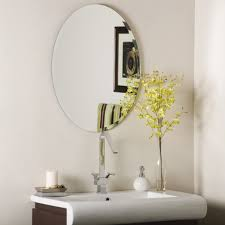 the best oval mirrors for your bathroom decor snob decor wonderland odelia oval bevel frameless wall mirror