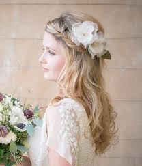 flower hair ivory wedding flower hair comb
