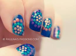 cute polka dots nails