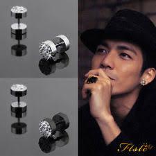 back earrings for men stainless steel earrings studs for men ebay