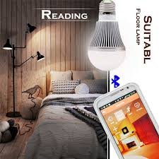 Living Room Wireless Lighting 5w E27 Bright Rgb Wireless Bluetooth Smart Led Light Bulb For