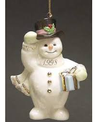 winter bargains on lenox annual snowman ornament no box