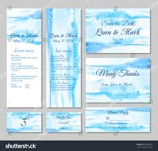 Wedding Invitations With Menu Cards Wedding Card Collection Save Date Menu Stock Vector 439398292