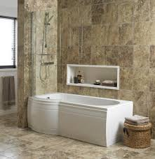 B Q Bathroom Laminate Flooring Cooke U0026 Lewis Adelphi Curved Bath Screen Departments Diy At B U0026q