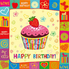 free birthday cards happy birthday elements card vector 01