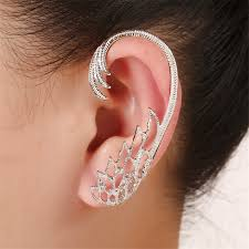 ear cuffs india women big earrings from india gold silver plated feather