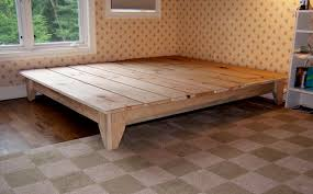 King Size Platform Bed Woodworking Plans by Unique Rustic Platform Bed Frame King With Cool Design King Beds