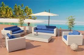 Cheap Patio Furniture Los Angeles Viro Fiber Sofa Daybed Set Outdoor 7