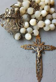 catholic gifts and more antique of pearl and gold plated silver filigree