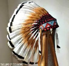 turkey feather headband children american headdress length indian warbonnet