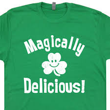 magically delicious t shirt st patricks day t shirt lucky