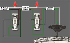 how to wire a ceiling fan with 2 wall switches integralbook com