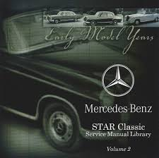 mercedes benz ponton books manuals literature references