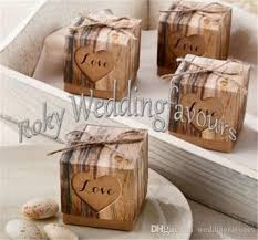 candy favor boxes wholesale 2x2x2 rustic favor boxes heart with rustic candy boxes