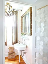 Vintage Bathroom Mirror Cabinet by White Vintage Bathroom Design With Large Crystal Chandelier And