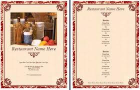 wedding menu template word best and various templates ideas