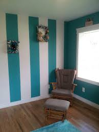 striped wall turquoise and white wall paint ideas and colors