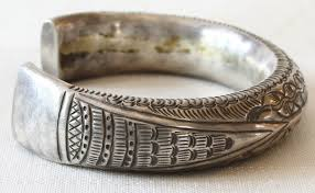 silver antique bracelet images Asian antique shan tribal silver bracelet laos etj78 jpg