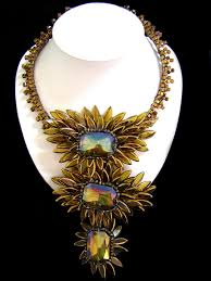 golden fashion necklace images Golden enchantment statement necklace thai fashion jewelry JPG