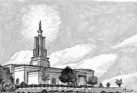 Ink San Antonio San Antonio Temple Ink Drawing Digital Lds