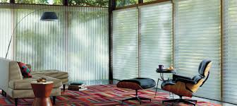 accessories 3 day blinds at glass bay window with pattern rug and