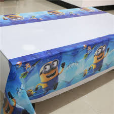 themed table cloth 1pcs lot birthday party supplies despicable me minions