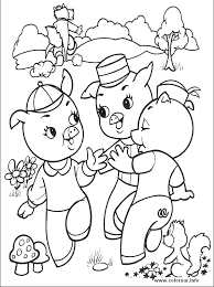 pigs 5 pigs printable coloring pages