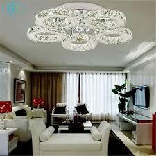 round 40w led ceiling light fixture l bedroom kitchen ac100 240v 40w led ceiling lights crystal 5 light lustres modern