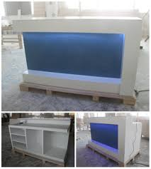 high fancy acrylic solid surface modern u shape office reception