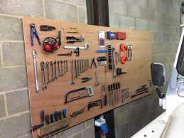 diy tool board tidy up your garage workshop funrover land