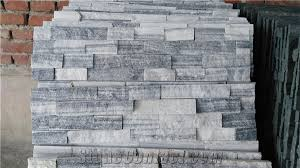 Stacked Stone Veneer Backsplash by Cloudy White Wall Stone Cladding Prices Cultured Stone Stacked
