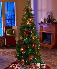 7 ft pop up artificial tree with decorations and 200