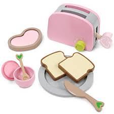 toaster kinderküche infantastic toaster set inkl 9 teiligem zubehör in rosa perfekt