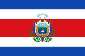 Costarican Flag File Flag Of Costa Rica 1848 1906 Svg Wikimedia Commons