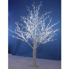 new white snowy twig tree white led lights indoor outdoor