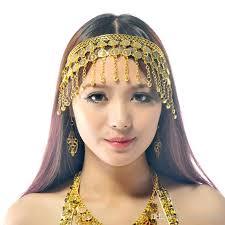 gold headband belly costume tribal jewelry gold silver headband