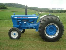 the ford 5000 was a blue and white tractor in production from 1964