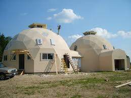 Dome Home by Domes Under Construction Photos Built With Econodome Kits