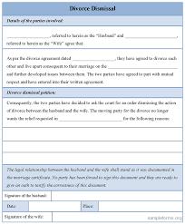 sample divorce forms