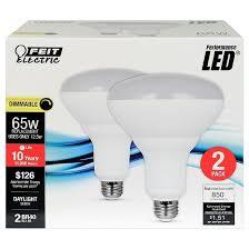 65 Watt Dimmable Led Flood Light Feit Br40 65 Watt Dimmable Led Light Bulb 2 Pack 5000k Soft