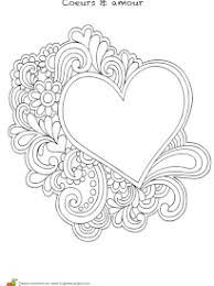 coloriage coeur pour les amoureux sur hugolescargot