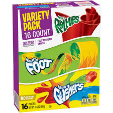 Betty Crocker Halloween Fruit Snacks Betty Crocker Variety Pack Fruit By The Foot Fruit Gushers
