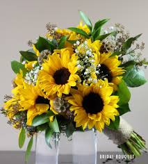 flowers to go vintage sunflower bridal bouquet bridal flowers to go