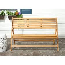 Acacia Wood Outdoor Furniture Durability by Safavieh Luca Natural Brown Acacia Wood Folding Patio Bench