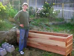 Wooden Planter Box Plans Free by Floating Backyard Deck With Planter Box Diy Youtube