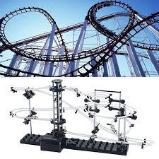 level 2 marble runs roller coaster kids space rail building kit toys spacewarp o26