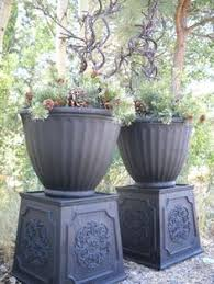 Urn Planters With Pedestal Tough Urn Planter Pedestal Products Planters And Pedestal