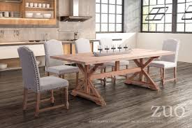 alliance dining table natural fir 100440 zuo mod