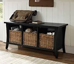 Storage Bench With Cubbies Bench Entryway Storage With Baskets Regarding Amazing Residence